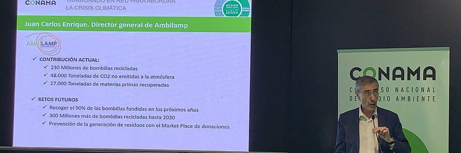 AMBILAMP participa en la Cumbre del Clima aportando su visión sobre la crisis medioambiental