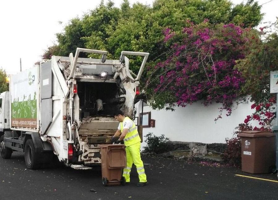 Recogida de residuos en La Palma