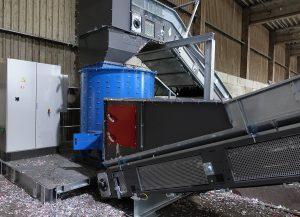 Desetiquetadora STADLER en una planta de clasificación de residuos