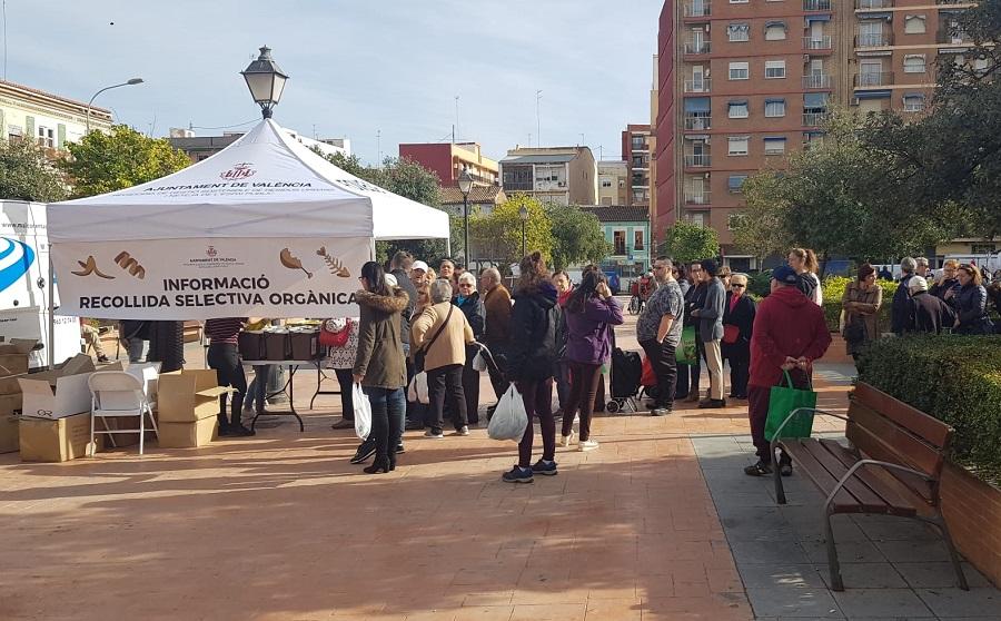 Campaña de información sobre recogida de biorresiduos en Valencia