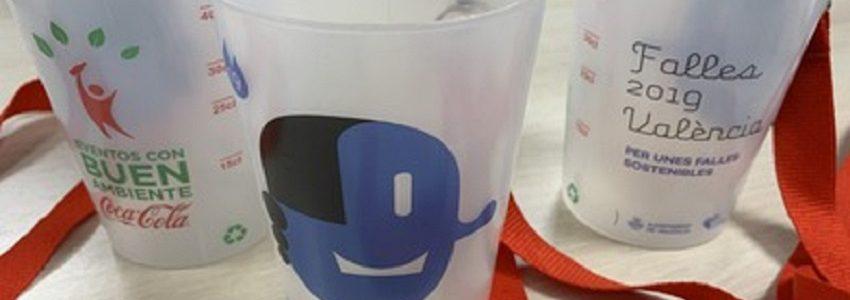 90.000 vasos reutilizables para reducir los residuos plásticos en las Fallas de Valencia