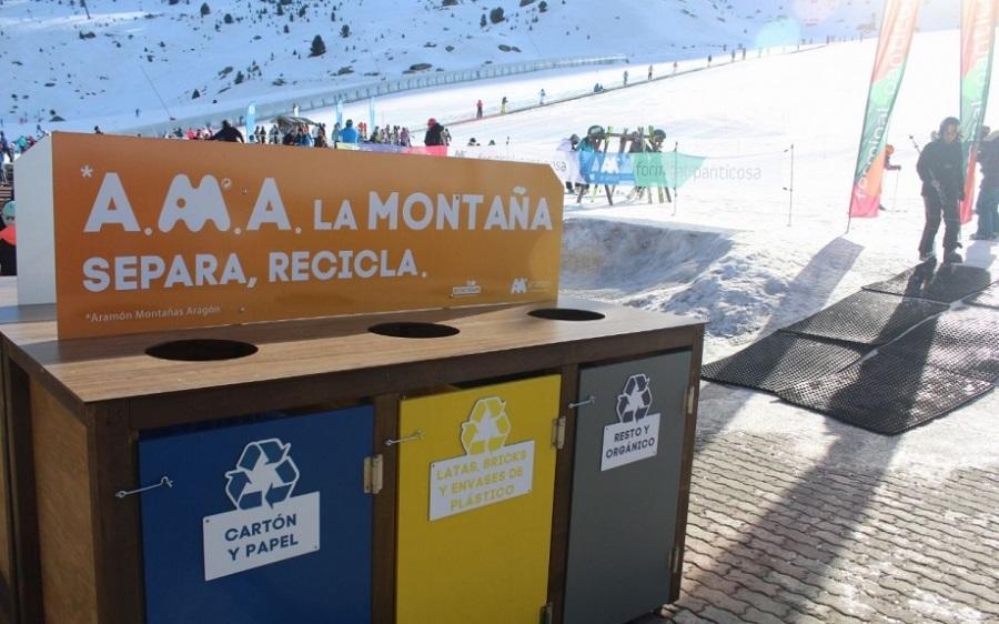 Reciclaje en las estaciones de esquí aragonesas