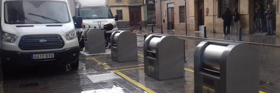 Valencia instala seis nuevas islas de contenedores soterrados