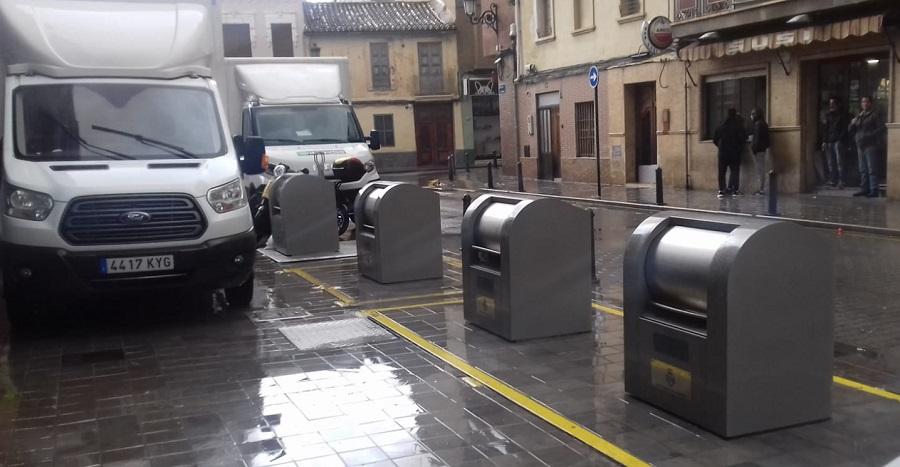 Contenedores soterrados en Valencia
