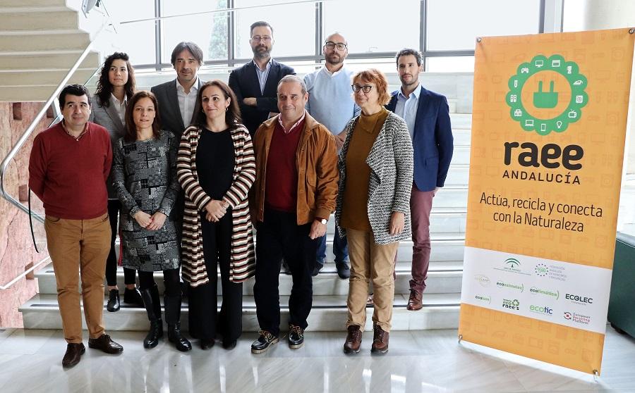 Presentación de los datos de gestión de residuos electrónicos en Andalucía