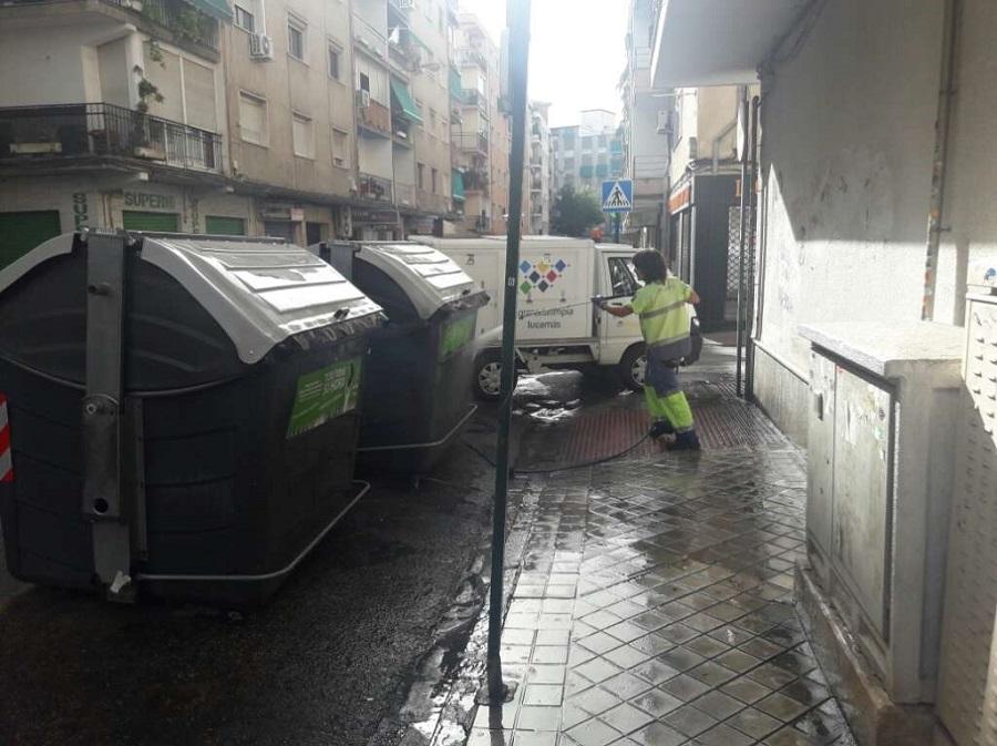 Contenedores de residuos en Granada