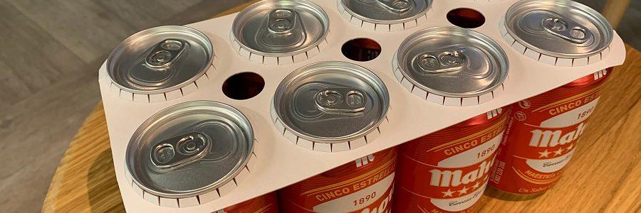 Mahou San Miguel elimina las anillas de plástico de sus packs de cerveza