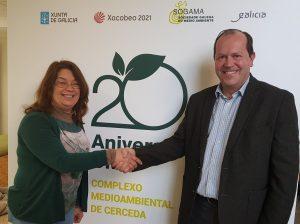Visita de representantes de APROEMA a la nueva planta de reciclaje de Sogama