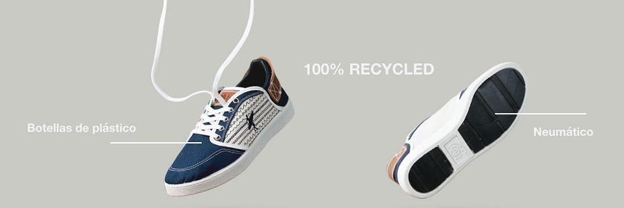 Una startup vasca convierte botellas de plástico y neumáticos en zapatillas recicladas