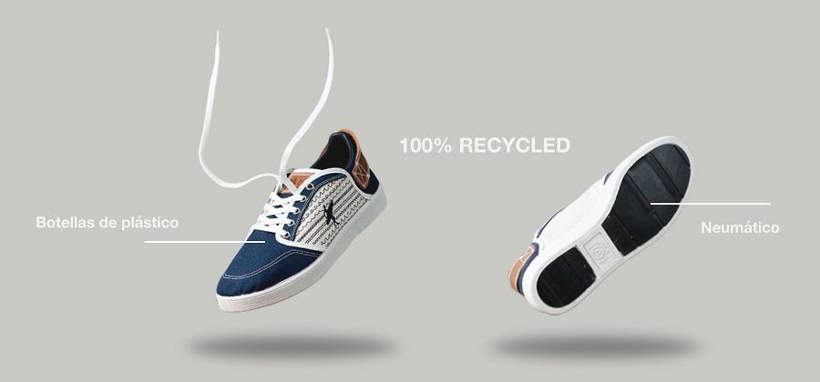 Zapatillas recicladas a partir de neumáticos y botellas de plástico