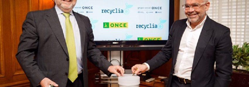 La ONCE reciclará sus residuos electrónicos a través de Recyclia
