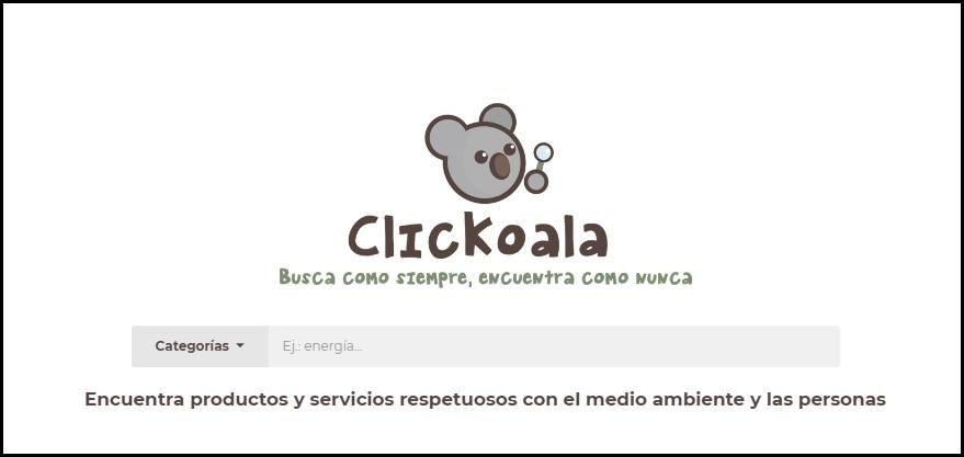 Buscador de productos sostenibles Clickoala