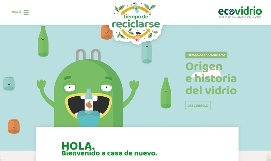 Una web de Ecovidrio para entretenerse y aprender sobre reciclaje
