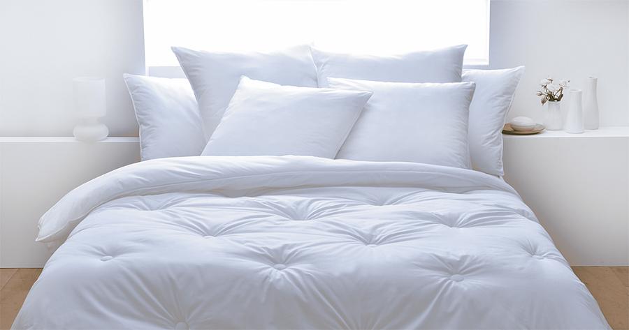 Ropa de cama con fibras de plástico reciclado