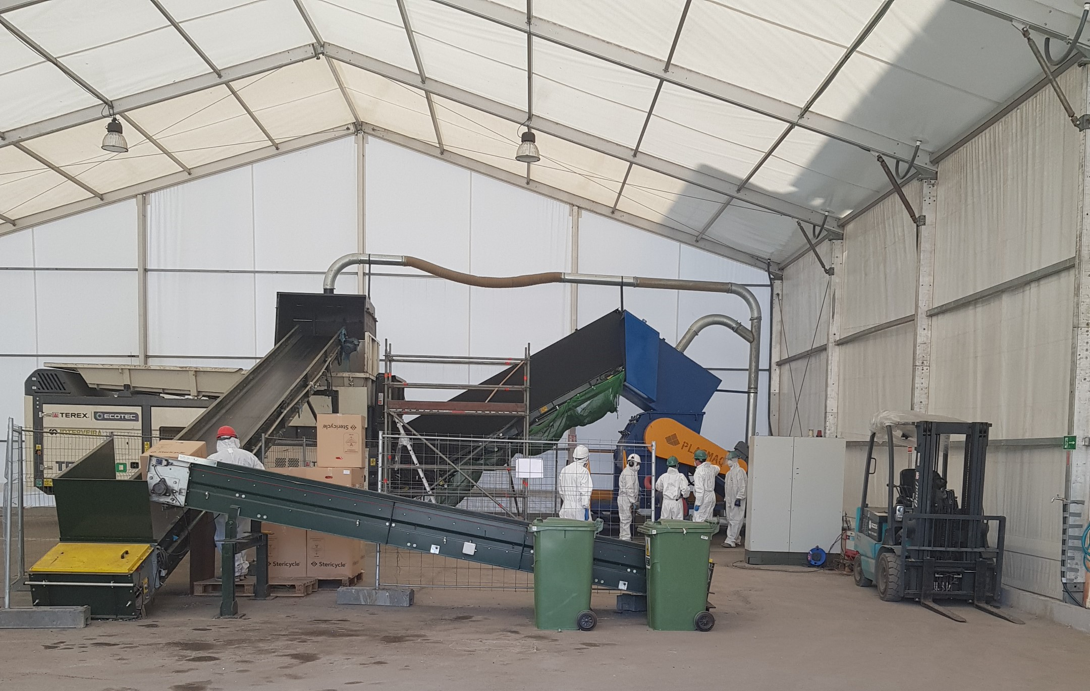 Instalación de Sogama para la gestión de residuos sanitarios del COVID-19
