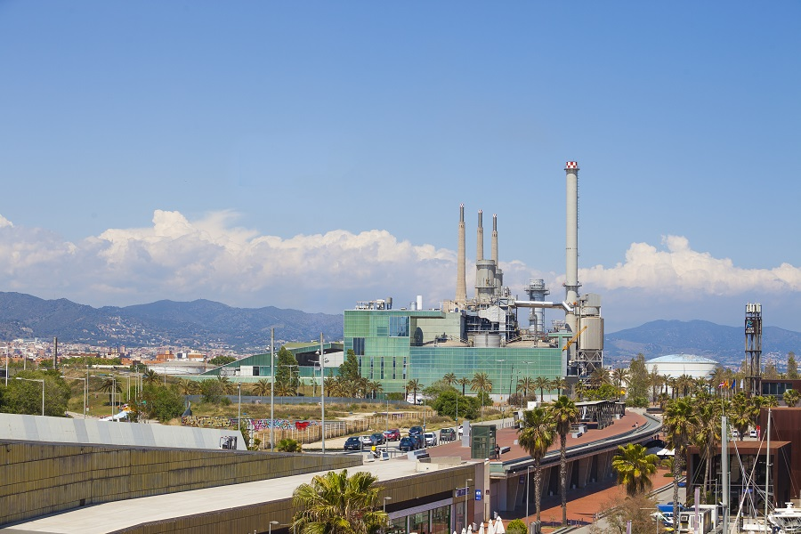 Planta de valorización energética de Tersa en Sant Adrià de Besòs