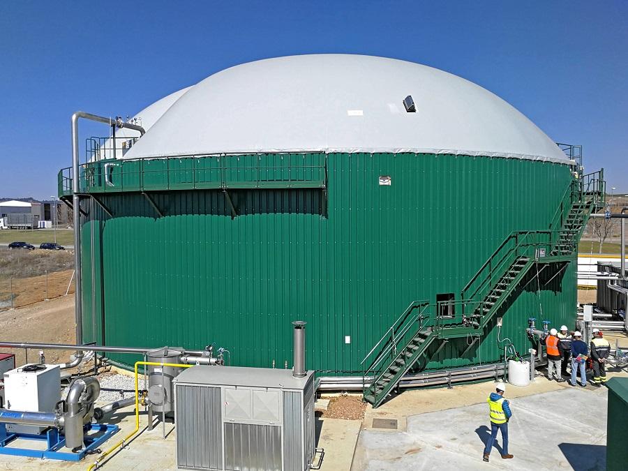 Planta de biogás de Subproductos Tuero en Venta de Baños