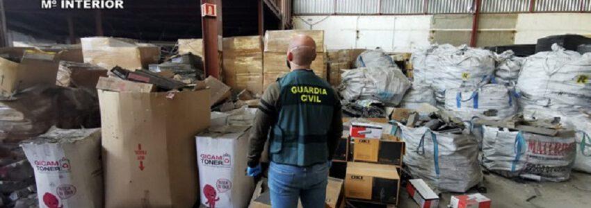Recyclia denuncia la gestión ilegal de residuos electrónicos tras el hallazgo de un almacén clandestino en Murcia