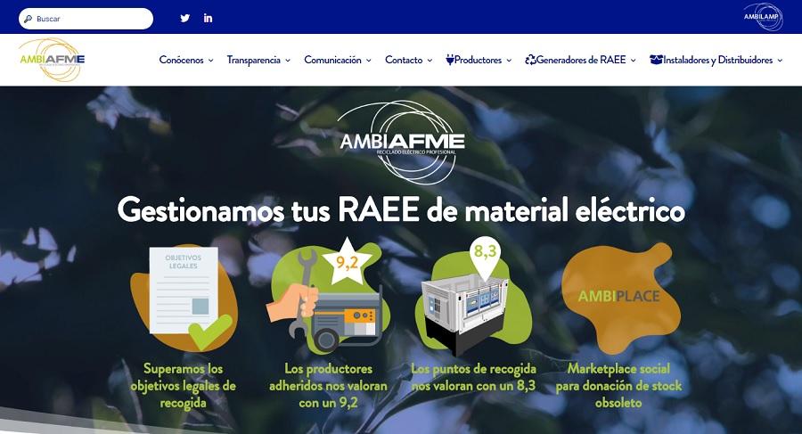 nueva web de Ambiafme