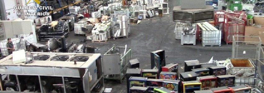 Cinco detenidos en una empresa de Sevilla dedicada al reciclaje de residuos electrónicos