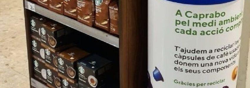 Caprabo instala contenedores para reciclar las cápsulas de café usadas