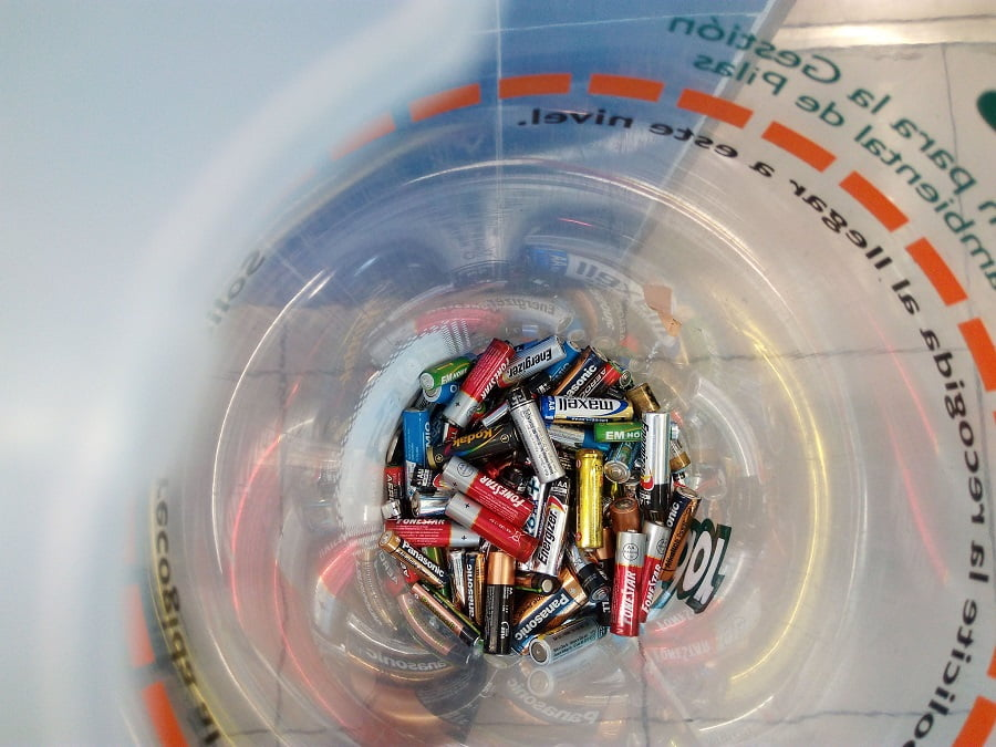 Pilas recuperadas para su reciclaje