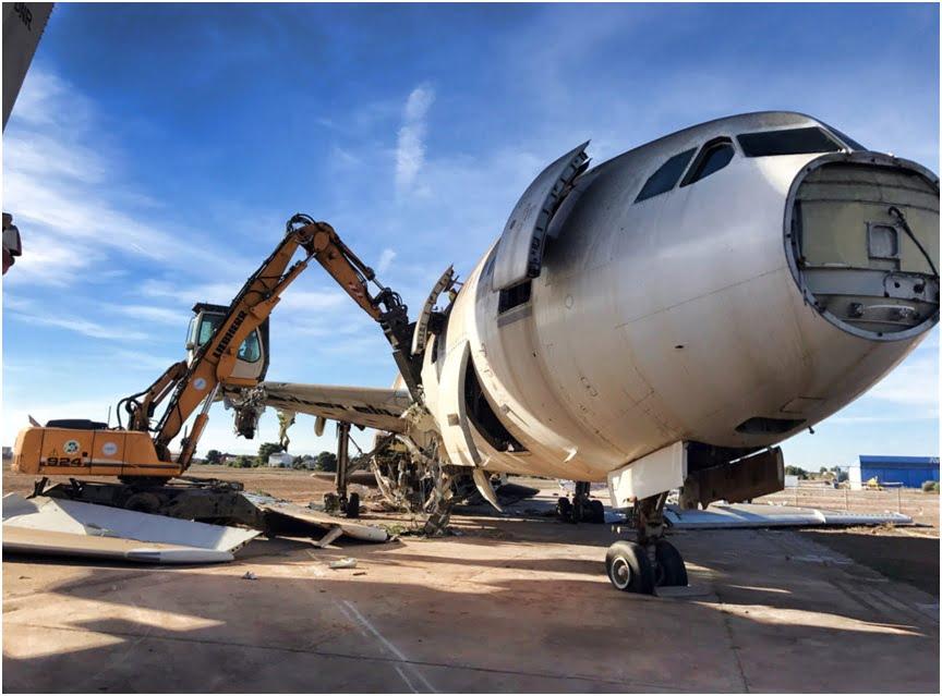 Proyecto para la recuperación de aleaciones de metales de aeronaves