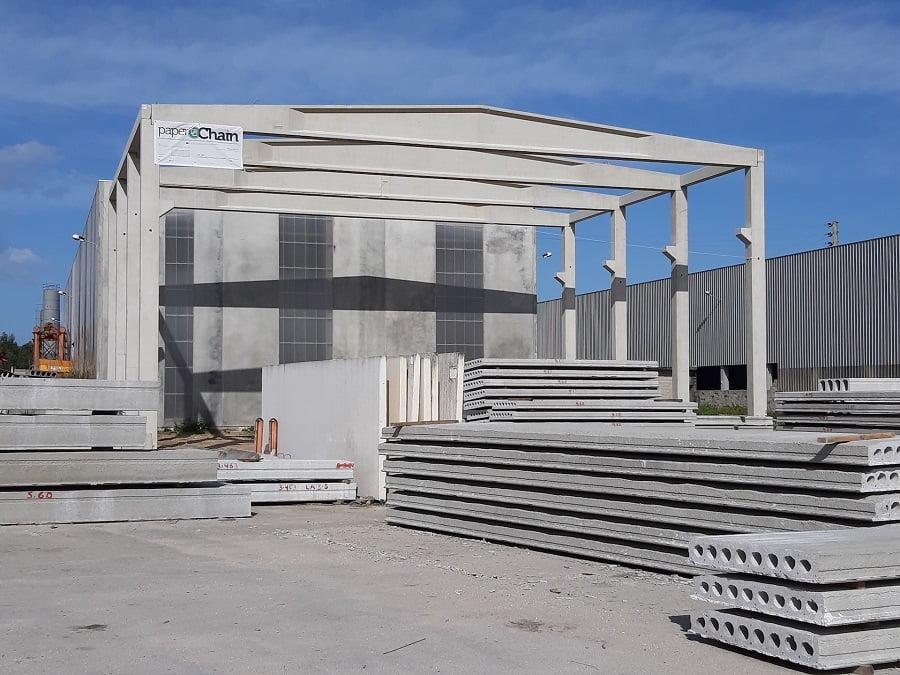 Pabellón construido con residuos de la industria papelera como materia prima