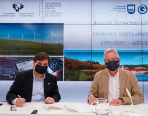 La Escuela de Ingeniería de Gipuzkoa tendrá un Aula de Economía Circular
