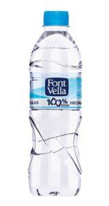 Botella de plástico reciclado de Font Vella
