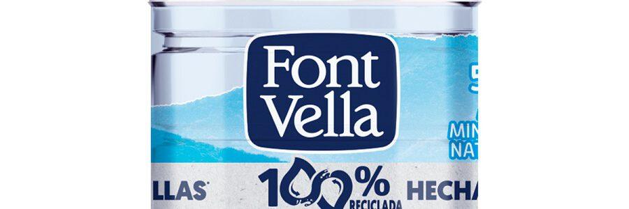 Font Vella lanza una botella fabricada íntegramente con plástico reciclado de otras botellas