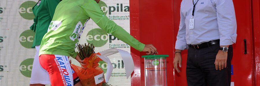 Ecopilas vuelve a colaborar con La Vuelta, donde ha recuperado ya más de siete toneladas de pilas