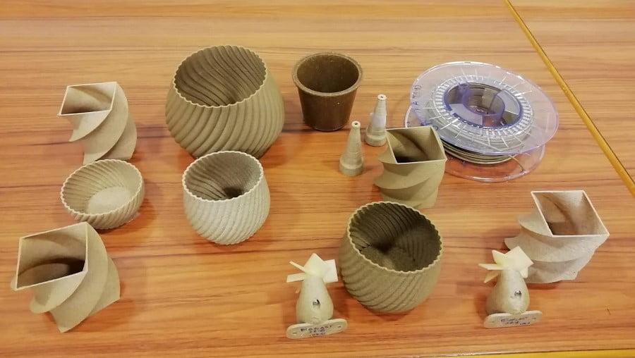 Piezas impresas en 3D a partir de residuos agrícolas