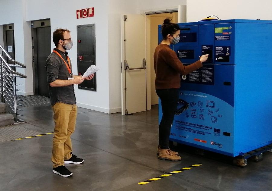Ensayan un contenedor inteligente para pequeños residuos electrónicos