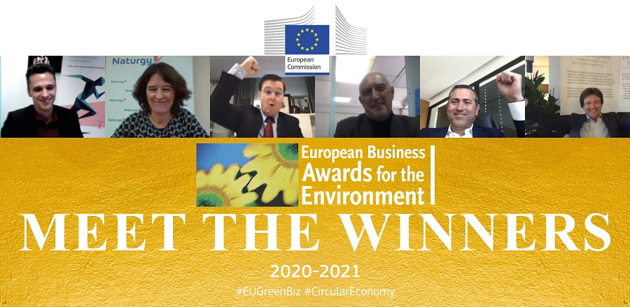 Ganadores de los premios europeos de medio ambiente a la empresa 2020