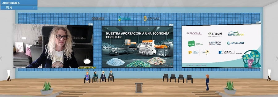Judit Jansana, directora general de TOMRA Sorting Iberia, durante su intervención en la Jornada Plásticos y Economía Circular