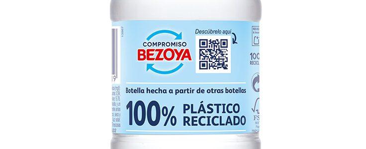 Bezoya fabrica ya el 90% de sus formatos de agua embotellada con plástico 100% reciclado
