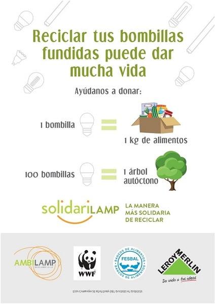 SOLIDARILAMP, la nueva campaña de AMBILAMP y Leroy Merlin