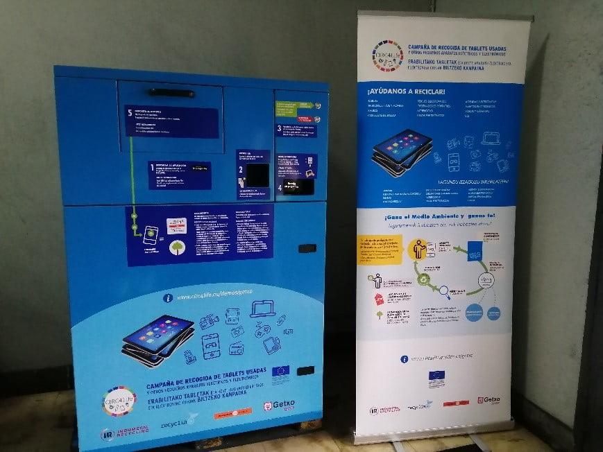 Getxo prueba un contenedor inteligente para residuos electrónicos que recompensa al usuario