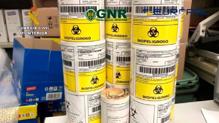 La Guardia Civil investiga a un holding por la gestión irregular de residuos sanitarios