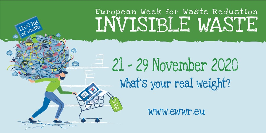 Cartel de la semana europea de prevención de residuos 2020