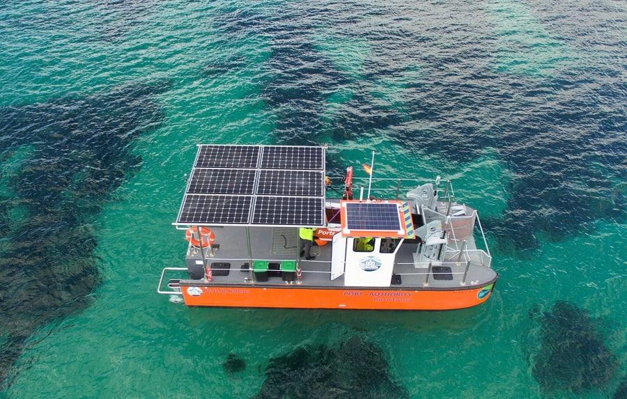 Sistema de recogida de residuos marinos en Baleares