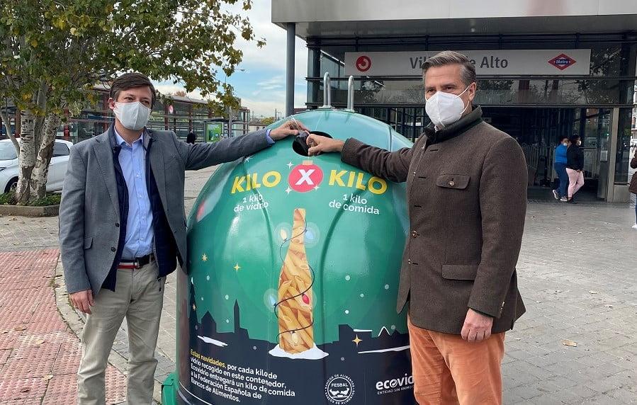 Campaña de ecovidrio con el banco de Alimentos para intercambiar residuos de vidrio por comida