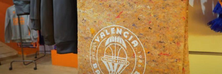 El Valencia Basket recicla el stock sobrante de sus tiendas para fabricar nuevos productos