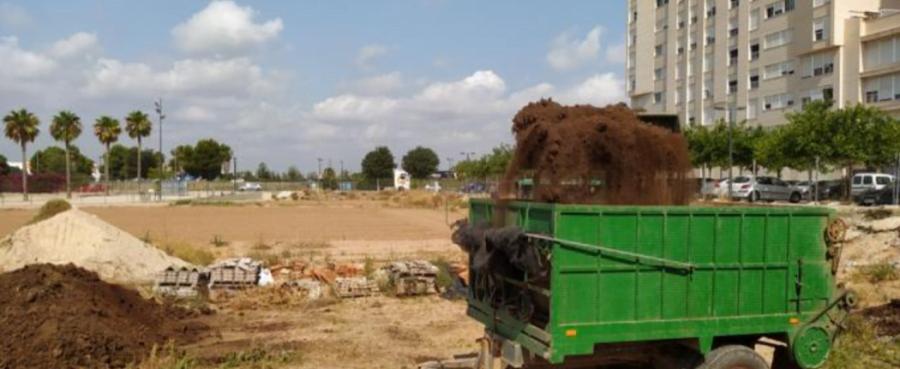 Proyecto de compostaje de paja de arroz en Valencia