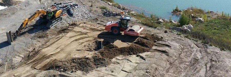 El proyecto PaperChain prueba el uso de residuos de la industria papelera para sellar escombreras mineras