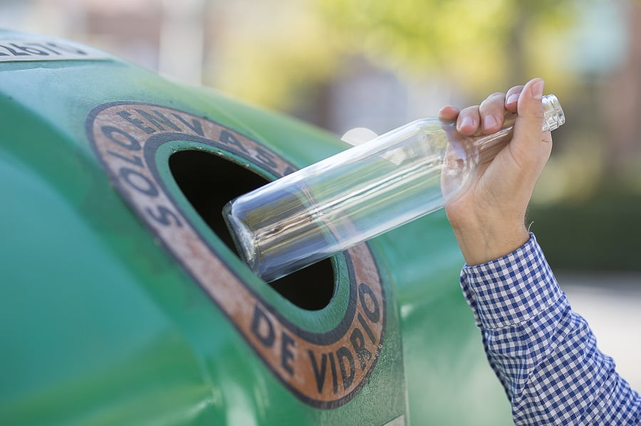 España supera la media europea de reciclaje de vidrio