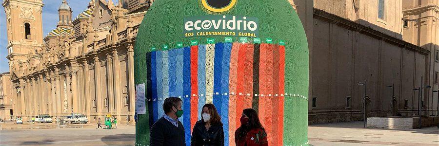 Ecovidrio muestra en el contenedor más grande del mundo la evolución de la temperatura global y cómo el reciclaje de vidrio contribuye a luchar contra el cambio climático