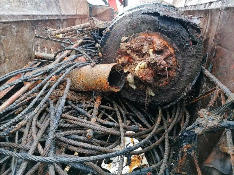 Residuos recogidos en el Puerto de Vigo