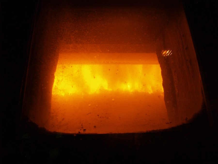 Horno de una planta de valorización energética de residuos